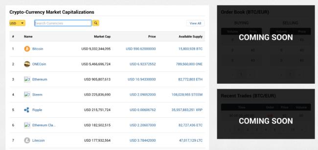 Screenshot stránky xcoinx.com